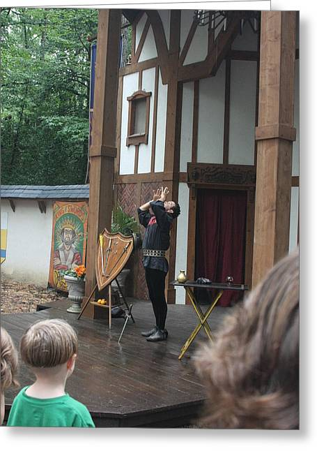 Maryland Renaissance Festival - Johnny Fox Sword Swallower - 121266 Greeting Card