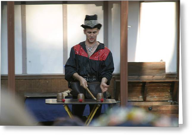 Maryland Renaissance Festival - Johnny Fox Sword Swallower - 121281 Greeting Card by DC Photographer