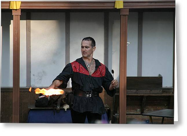 Maryland Renaissance Festival - Johnny Fox Sword Swallower - 121282 Greeting Card by DC Photographer