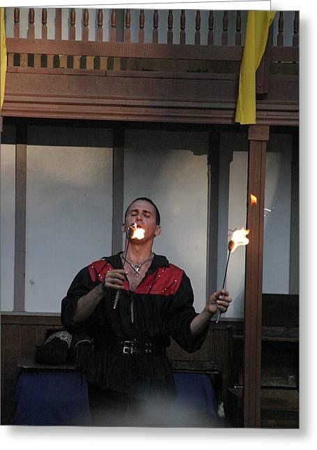 Maryland Renaissance Festival - Johnny Fox Sword Swallower - 121296 Greeting Card by DC Photographer