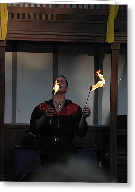 Maryland Renaissance Festival - Johnny Fox Sword Swallower - 121297 Greeting Card