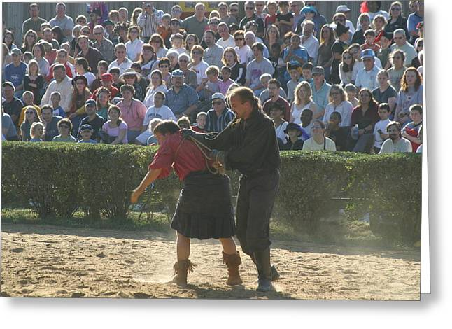 Maryland Renaissance Festival - Jousting And Sword Fighting - 1212106 Greeting Card by DC Photographer