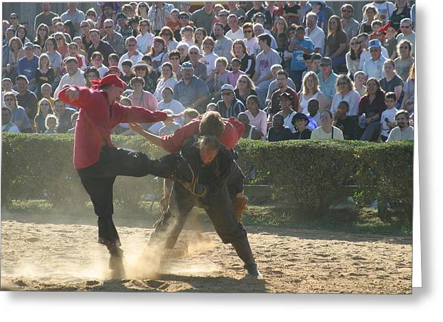 Maryland Renaissance Festival - Jousting And Sword Fighting - 1212109 Greeting Card by DC Photographer