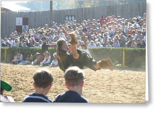Maryland Renaissance Festival - Jousting And Sword Fighting - 1212110 Greeting Card by DC Photographer