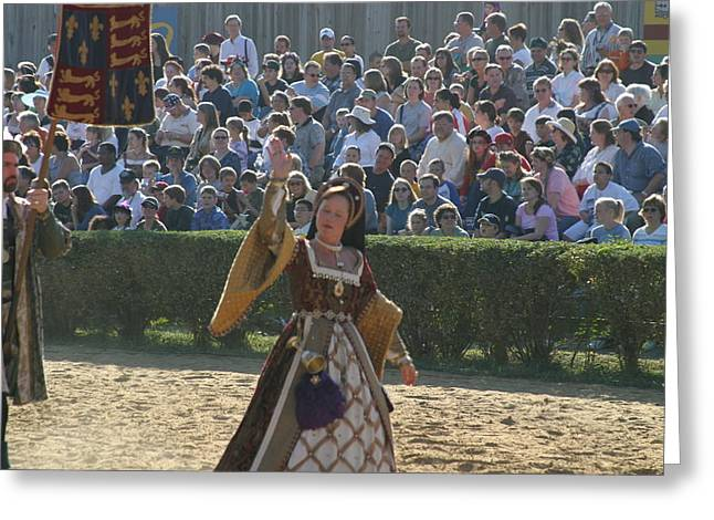 Maryland Renaissance Festival - Jousting And Sword Fighting - 1212117 Greeting Card by DC Photographer