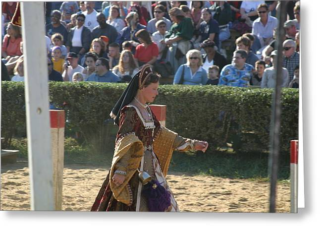 Maryland Renaissance Festival - Jousting And Sword Fighting - 1212118 Greeting Card by DC Photographer