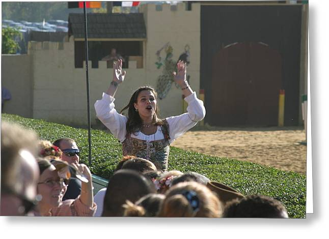 Maryland Renaissance Festival - Jousting And Sword Fighting - 1212122 Greeting Card by DC Photographer