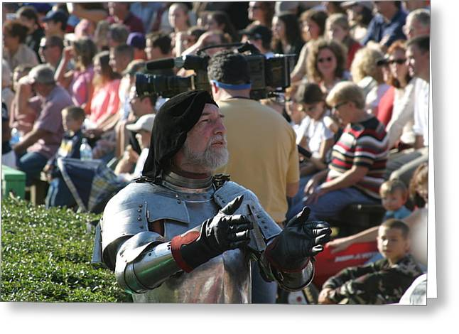 Maryland Renaissance Festival - Jousting And Sword Fighting - 1212123 Greeting Card