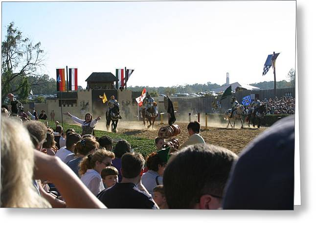 Maryland Renaissance Festival - Jousting And Sword Fighting - 1212126 Greeting Card