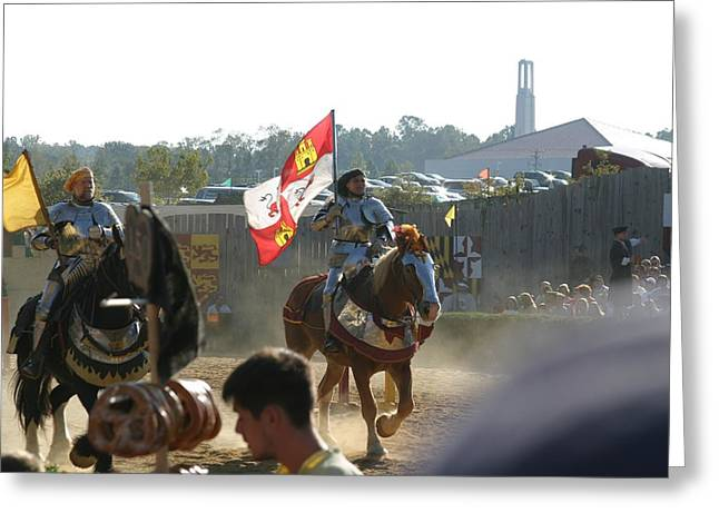 Maryland Renaissance Festival - Jousting And Sword Fighting - 1212127 Greeting Card by DC Photographer
