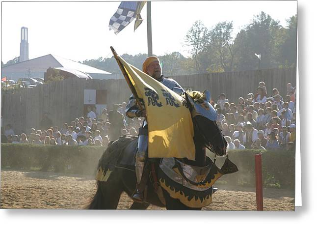 Maryland Renaissance Festival - Jousting And Sword Fighting - 1212134 Greeting Card by DC Photographer