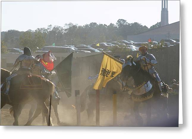 Maryland Renaissance Festival - Jousting And Sword Fighting - 1212141 Greeting Card by DC Photographer