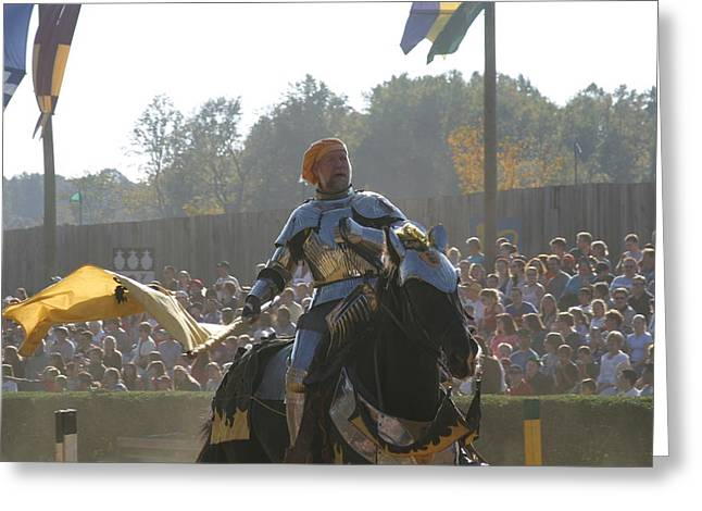 Maryland Renaissance Festival - Jousting And Sword Fighting - 1212142 Greeting Card by DC Photographer
