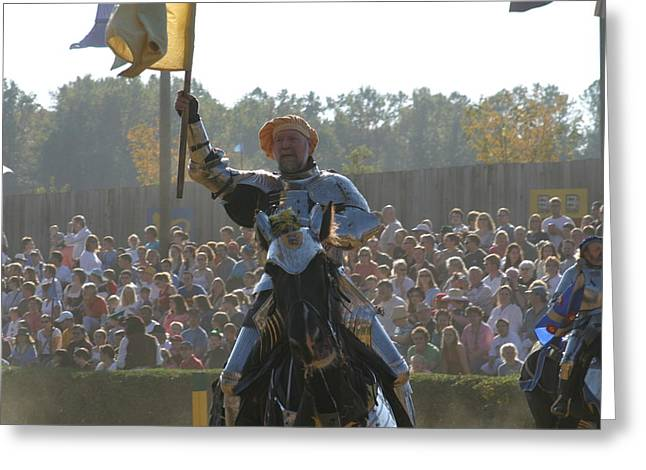 Maryland Renaissance Festival - Jousting And Sword Fighting - 1212143 Greeting Card by DC Photographer