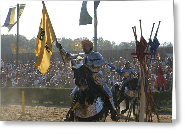 Maryland Renaissance Festival - Jousting And Sword Fighting - 1212144 Greeting Card by DC Photographer