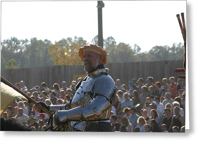 Maryland Renaissance Festival - Jousting And Sword Fighting - 1212146 Greeting Card by DC Photographer