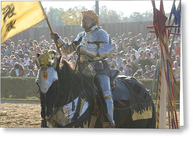 Maryland Renaissance Festival - Jousting And Sword Fighting - 1212148 Greeting Card by DC Photographer