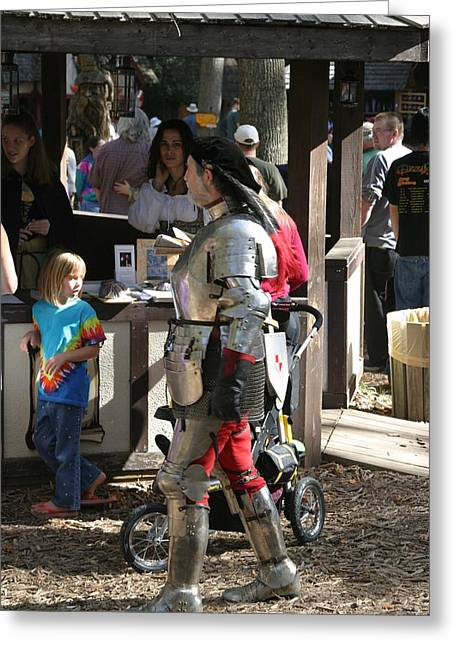 Maryland Renaissance Festival - Jousting And Sword Fighting - 1212149 Greeting Card