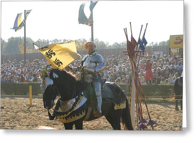 Maryland Renaissance Festival - Jousting And Sword Fighting - 1212150 Greeting Card by DC Photographer