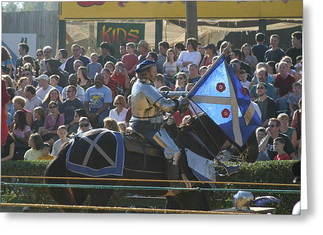 Maryland Renaissance Festival - Jousting And Sword Fighting - 1212152 Greeting Card by DC Photographer