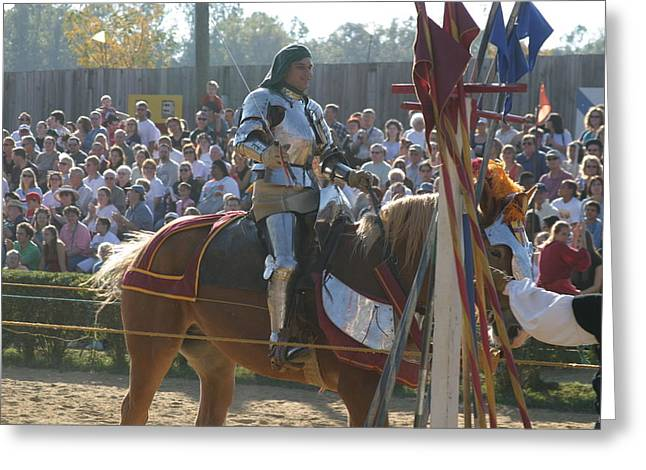 Maryland Renaissance Festival - Jousting And Sword Fighting - 1212153 Greeting Card