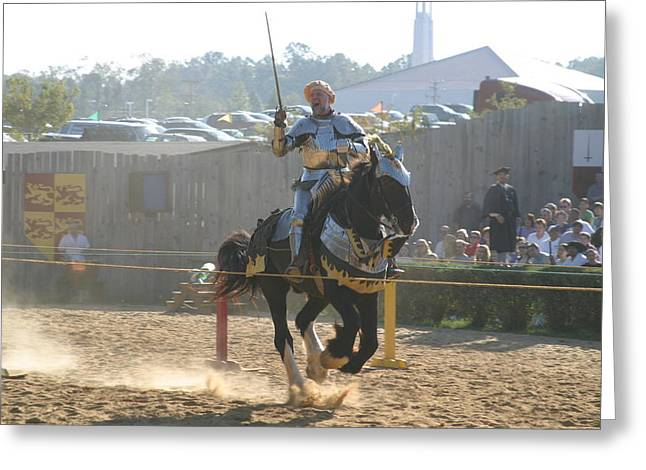 Maryland Renaissance Festival - Jousting And Sword Fighting - 1212154 Greeting Card by DC Photographer