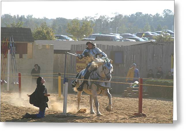 Maryland Renaissance Festival - Jousting And Sword Fighting - 1212156 Greeting Card by DC Photographer