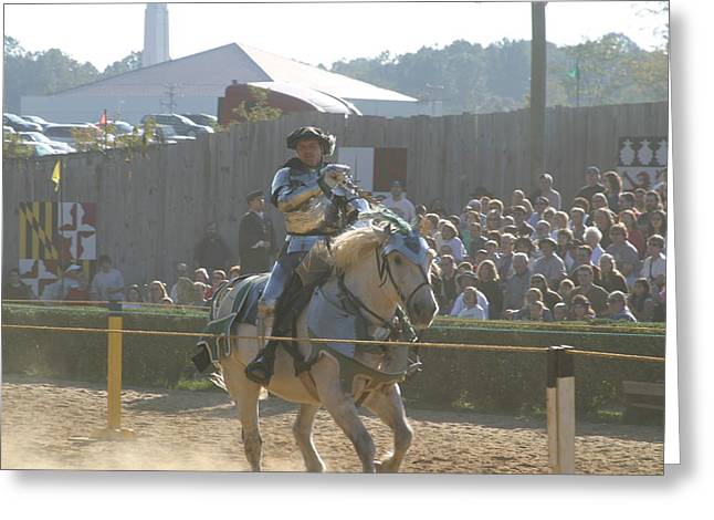 Maryland Renaissance Festival - Jousting And Sword Fighting - 1212158 Greeting Card by DC Photographer