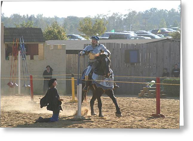 Maryland Renaissance Festival - Jousting And Sword Fighting - 1212159 Greeting Card by DC Photographer