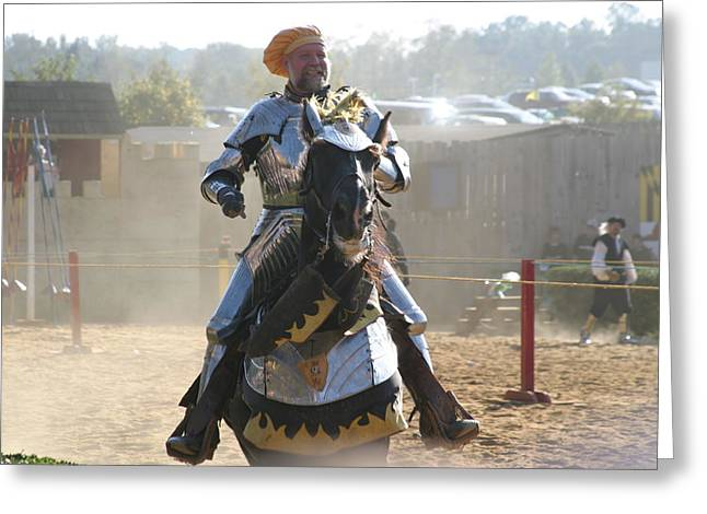 Maryland Renaissance Festival - Jousting And Sword Fighting - 1212163 Greeting Card by DC Photographer