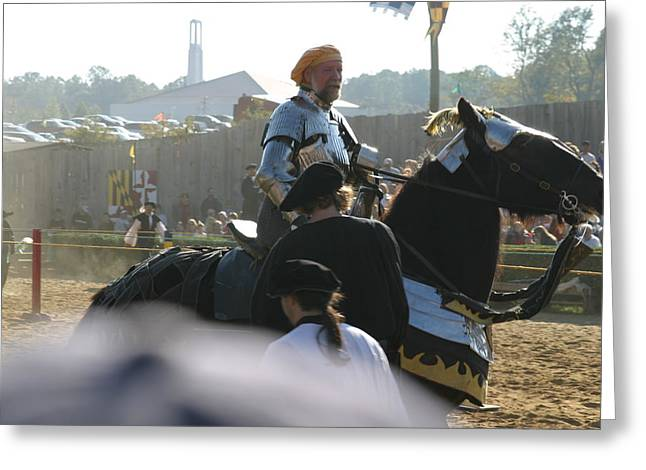 Maryland Renaissance Festival - Jousting And Sword Fighting - 1212164 Greeting Card by DC Photographer