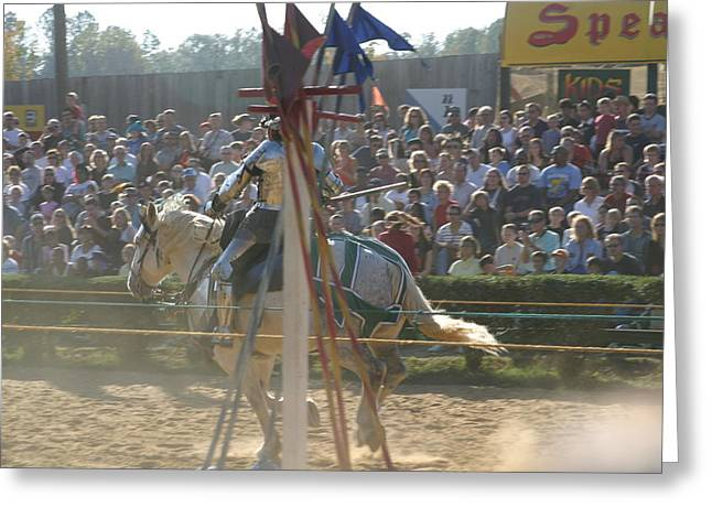 Maryland Renaissance Festival - Jousting And Sword Fighting - 1212166 Greeting Card by DC Photographer