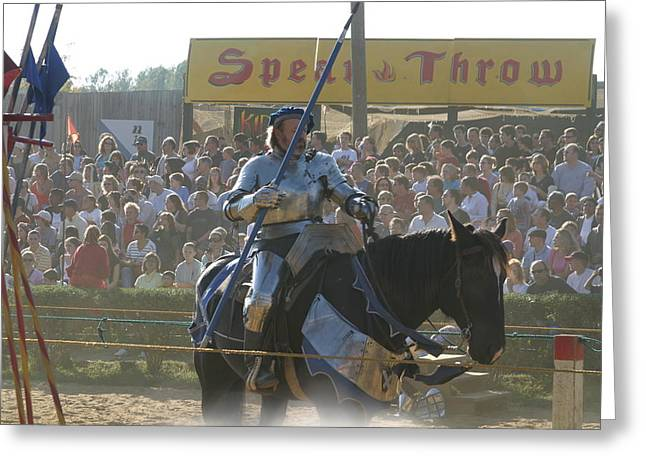 Maryland Renaissance Festival - Jousting And Sword Fighting - 1212169 Greeting Card by DC Photographer
