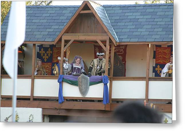 Maryland Renaissance Festival - Jousting And Sword Fighting - 121217 Greeting Card