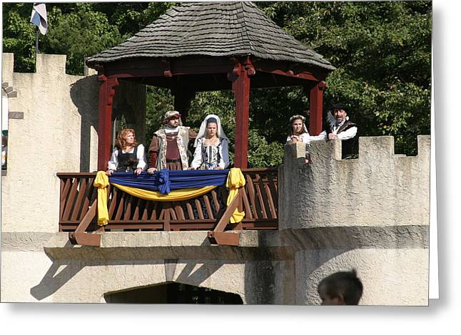 Maryland Renaissance Festival - Jousting And Sword Fighting - 1212170 Greeting Card by DC Photographer