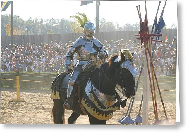 Maryland Renaissance Festival - Jousting And Sword Fighting - 1212172 Greeting Card