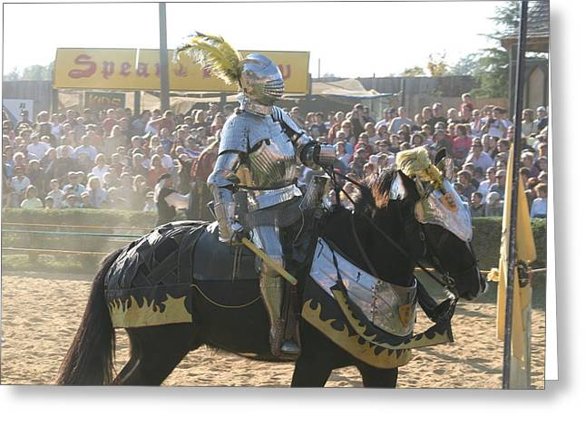 Maryland Renaissance Festival - Jousting And Sword Fighting - 1212173 Greeting Card by DC Photographer