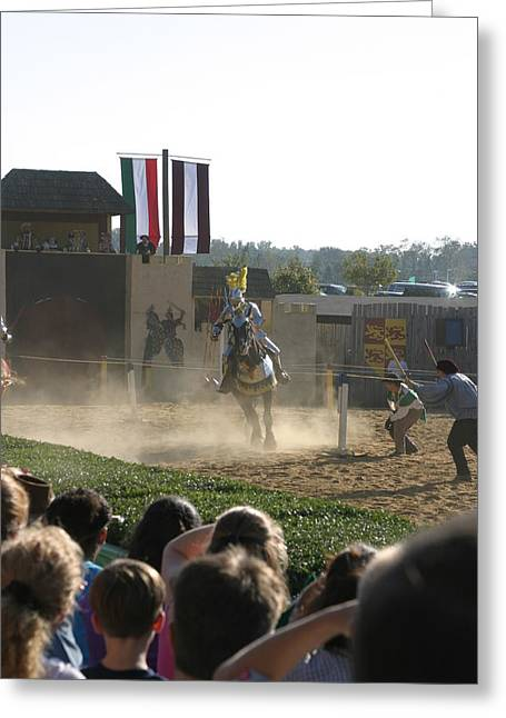 Maryland Renaissance Festival - Jousting And Sword Fighting - 1212174 Greeting Card by DC Photographer