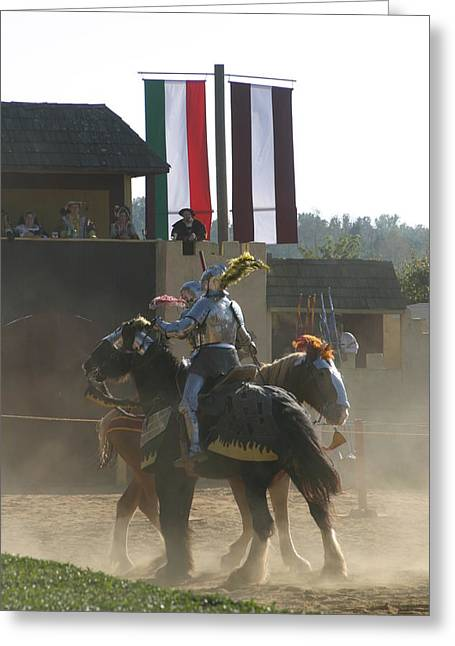 Maryland Renaissance Festival - Jousting And Sword Fighting - 1212175 Greeting Card by DC Photographer