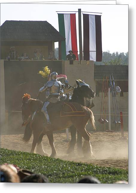 Maryland Renaissance Festival - Jousting And Sword Fighting - 1212178 Greeting Card by DC Photographer