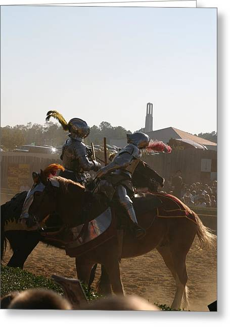 Maryland Renaissance Festival - Jousting And Sword Fighting - 1212181 Greeting Card by DC Photographer