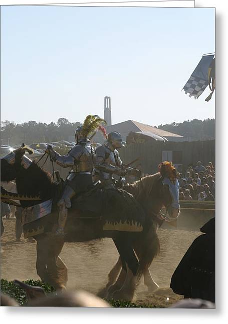 Maryland Renaissance Festival - Jousting And Sword Fighting - 1212184 Greeting Card by DC Photographer