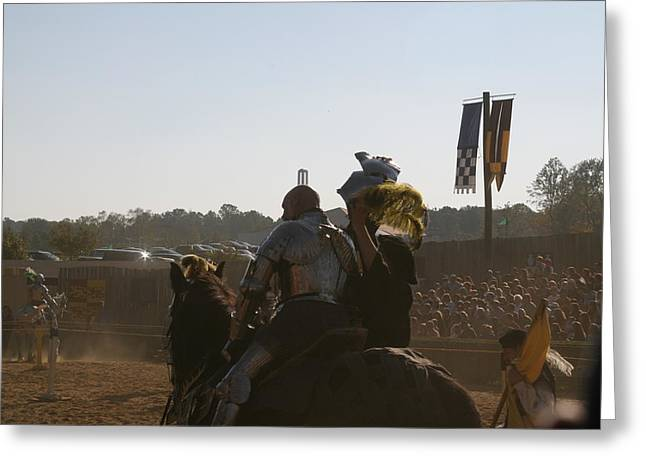 Maryland Renaissance Festival - Jousting And Sword Fighting - 1212185 Greeting Card by DC Photographer