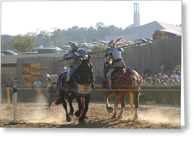 Maryland Renaissance Festival - Jousting And Sword Fighting - 1212188 Greeting Card by DC Photographer
