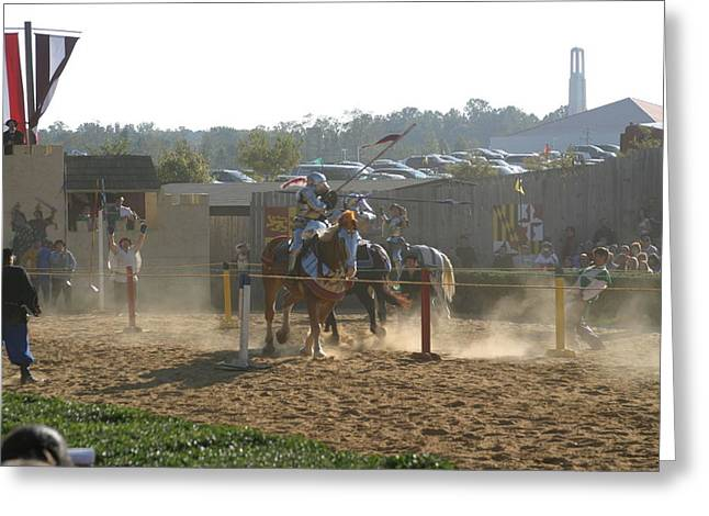 Maryland Renaissance Festival - Jousting And Sword Fighting - 1212191 Greeting Card by DC Photographer