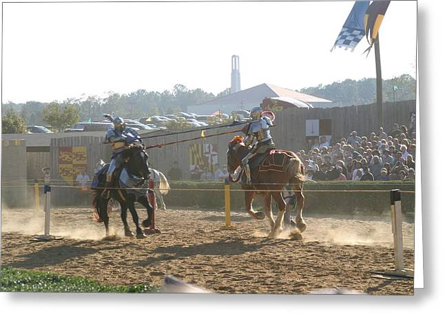 Maryland Renaissance Festival - Jousting And Sword Fighting - 1212192 Greeting Card by DC Photographer