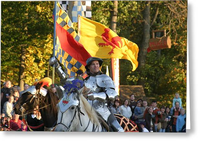 Maryland Renaissance Festival - Jousting And Sword Fighting - 121220 Greeting Card