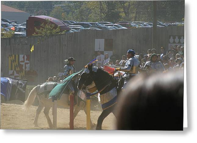 Maryland Renaissance Festival - Jousting And Sword Fighting - 1212202 Greeting Card