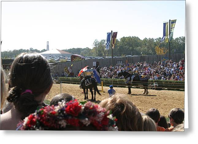 Maryland Renaissance Festival - Jousting And Sword Fighting - 1212209 Greeting Card