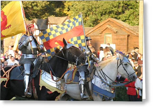 Maryland Renaissance Festival - Jousting And Sword Fighting - 121224 Greeting Card by DC Photographer
